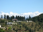 Snow Capped Mountains from Saud Village in Uttarakhand